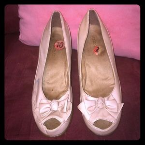 """Aerosoles """"Well Known"""" 10M Pretty in Pink Wedges"""